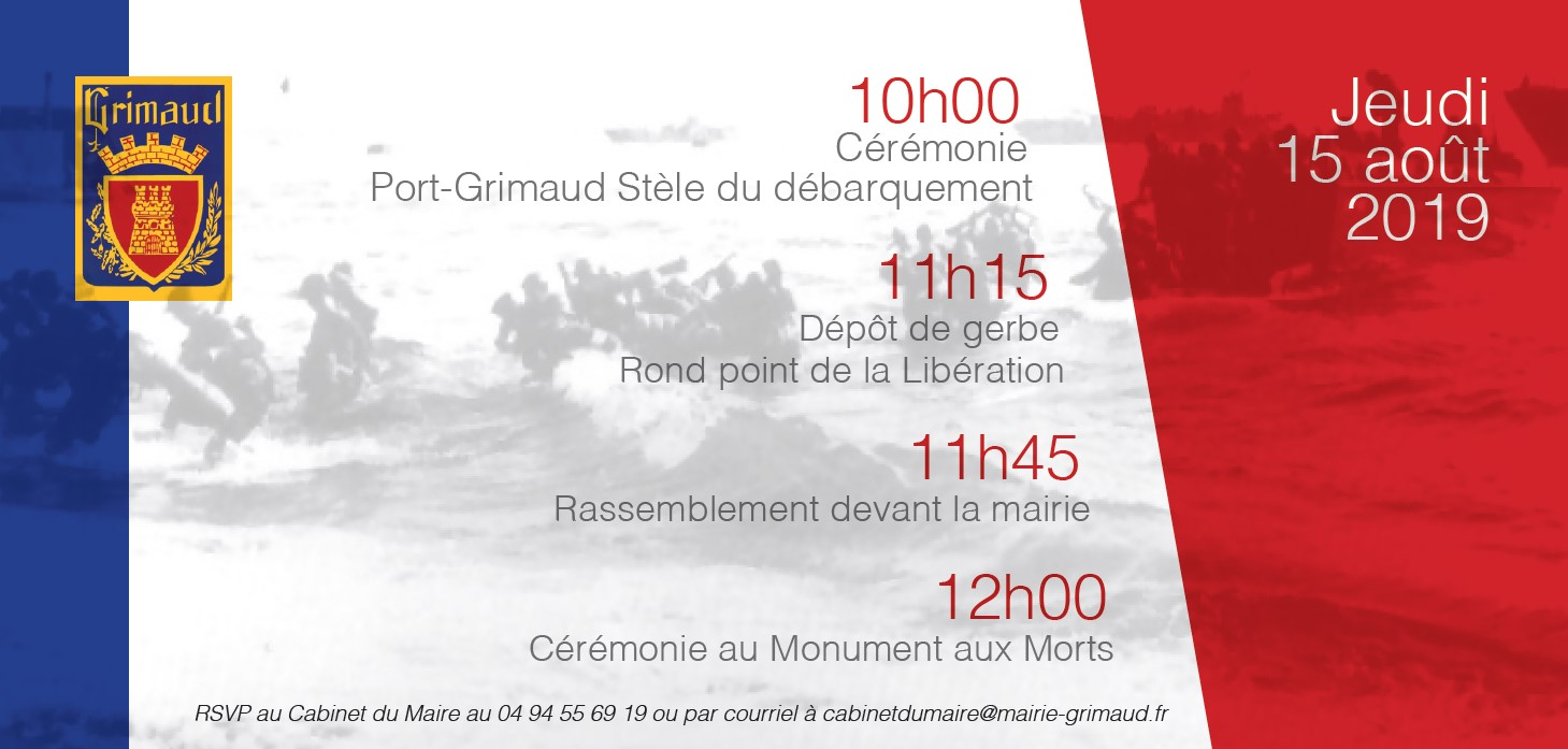 Invitation: Ceremonies commemorating the landing of Provence