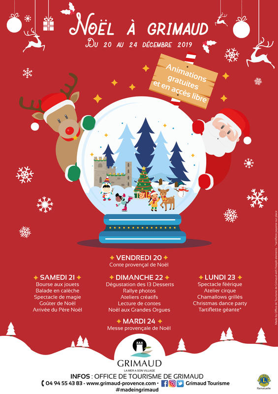 Christmas in Grimaud: from December 20 to 24, 2019