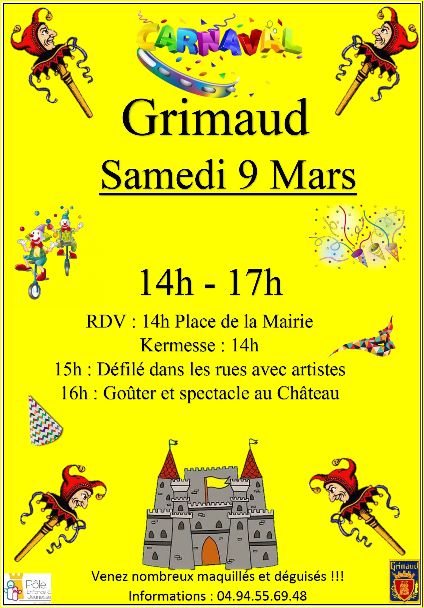 Saturday, March 9, 2019: Carnival of Grimaud